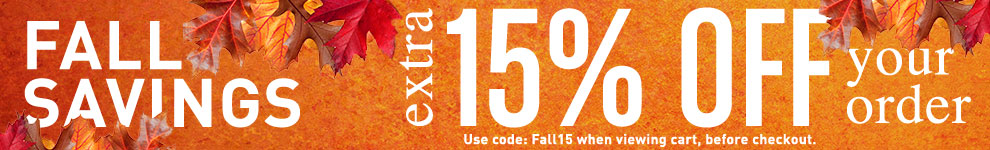 Fall Savings 15% Off