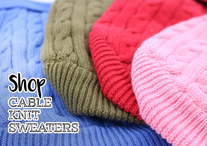 Shop Cable Knit Sweaters