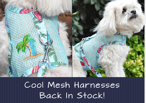Doggie Design Cool Mesh Harnesses Back In Stock