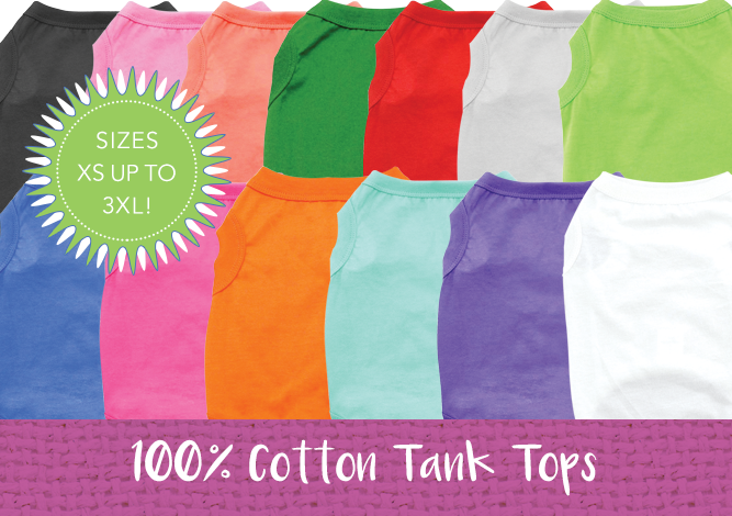 Doggie Design 100% Cotton Tank Tops